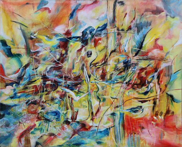 Taina, olej na plátně, 160 x 140cm, cena 30 000Kč, rok 2014