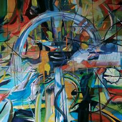 Brána, olej na plátně, 120x90cm, 5 000Kč, prodáno