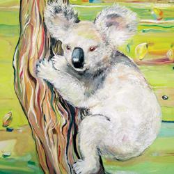 Koala, olej na plátně, 80x40cm, 6 000Kč, prodáno