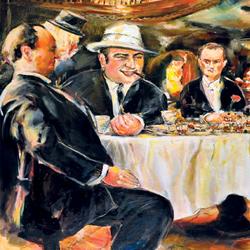 Al Capone, olej na plátně, 130x100cm, 10 000Kčprodáno