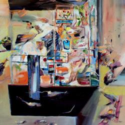 Balkón, olej na plátně, 130x120cm, 21 000Kč, prodáno