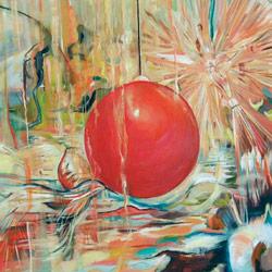 Baňka, olej na plátně, 125x100cm, 30 000Kč, prodáno