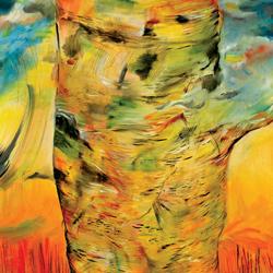 Bříza, olejna plátně 130x90cm, prodáno