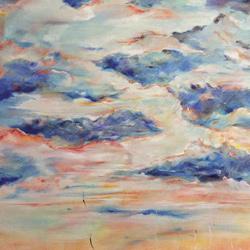 Oblaka olej na plátě 120x100cm, 19 000Kč
