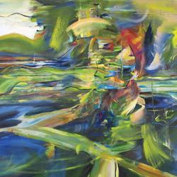 Enter, olej na plátně, 140x140cm, 22 000Kč, prodáno