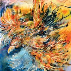 Orel, olej na plátně 130x130cm, 25 000Kč,2012, prodáno
