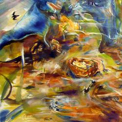Oříšek, olej na plátně, 40x20cm, 4 000Kč, prodáno