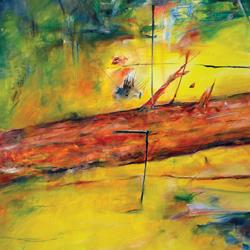 Padlý Strom, olej na plátně, 40x20cm, prodáno