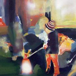 Světlonoš, olej na plátně, 50x50cm 4 000Kč, prodáno