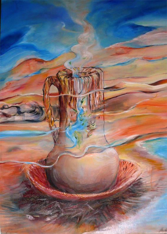 Nádoba, olej na plátně, 60x40cm, 2012, cena 10 000Kč