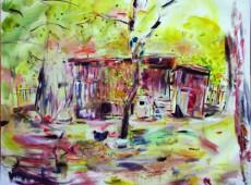 Kurnik, olej na plátně,_140 x 120 rok 2013, cena 10 000Kč