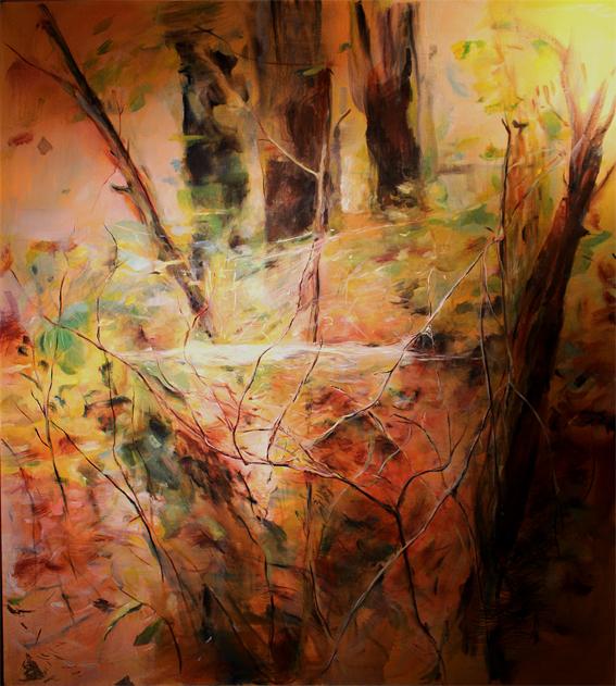 Pavučina, olej na plátně 140x145cm, rok2013, cena 30 000Kč