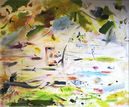 Pod Platanem, olej na plátně, 130 x 120 cm, rok 2013, cena 13 000Kč