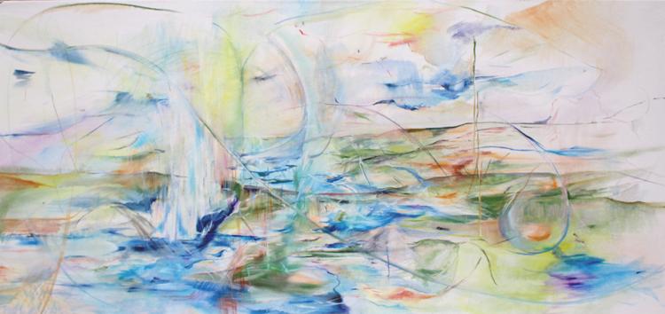Prameny, olej na plátně, 150 x 95 cm, rok 2013, cena 10 000cm