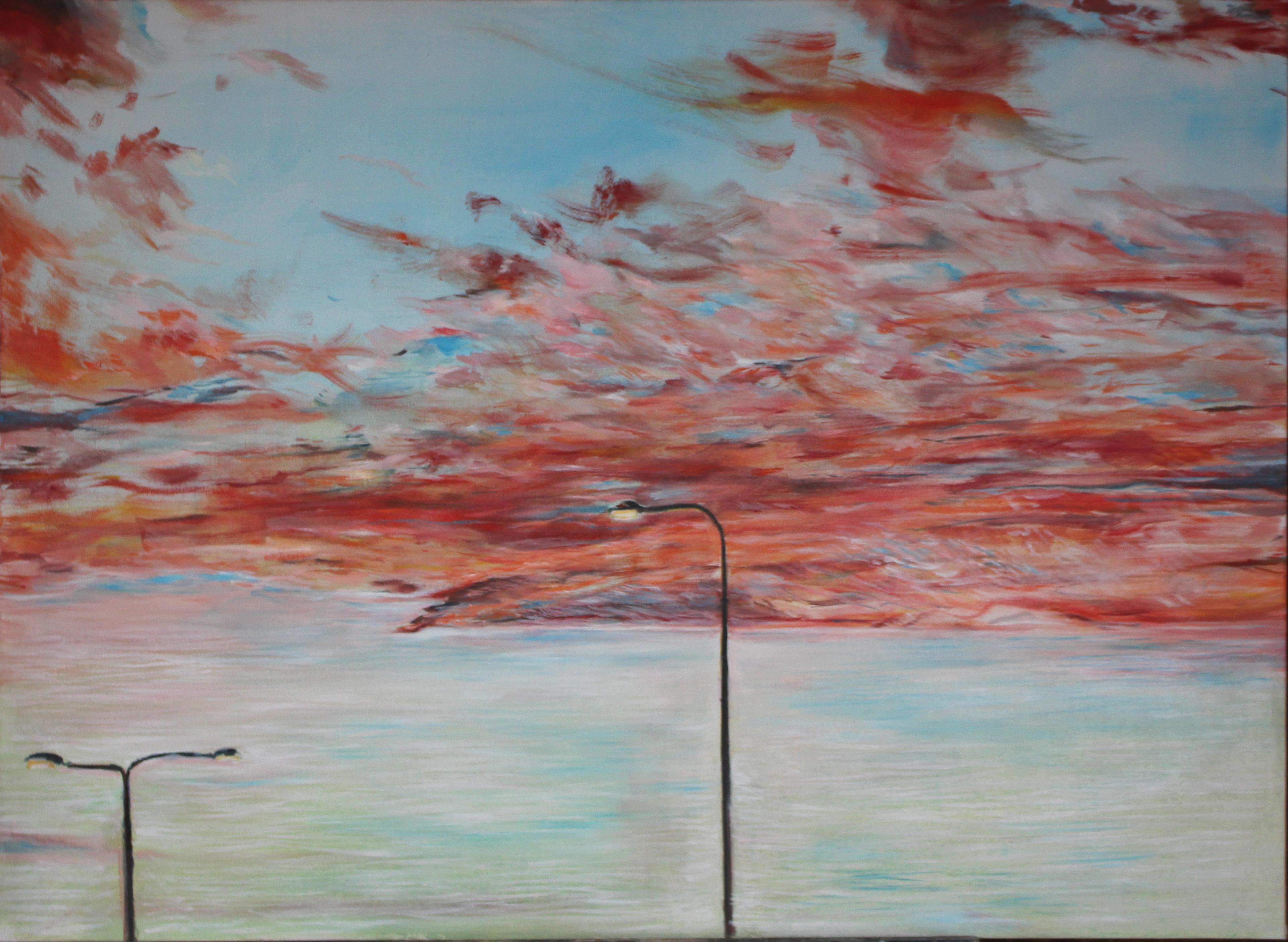 Jablko , olej na plátně, 95 x 80 cm, cena 10 000Kč