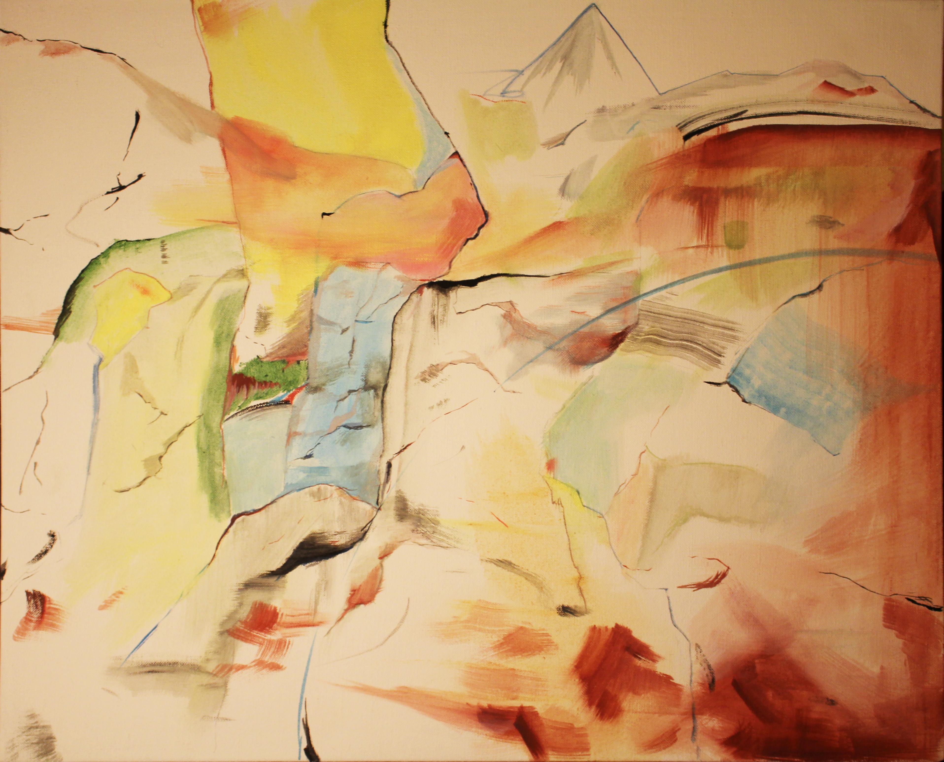 Skaly , olej na plátně, 70 x 60 cm, rok 2014, cena 5 000Kč