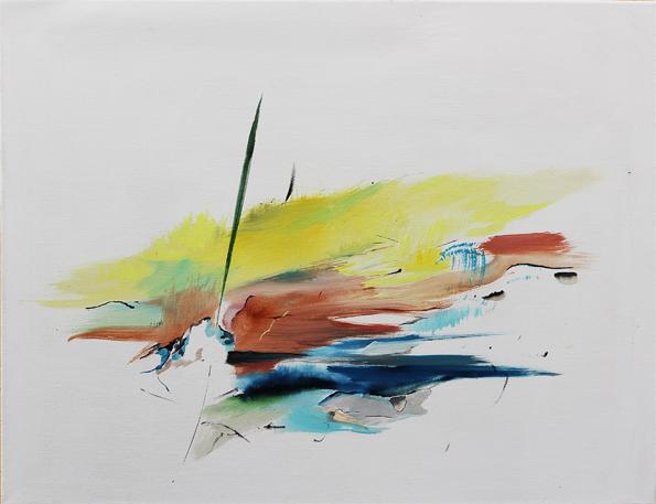 Řeka, olej na plátně, 90 x 70 cm, cena 6 000Kč, 2014