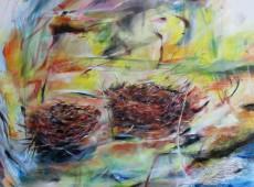 Hnízda, olej na plátně, 105 x 85cm, 2014 cena 18 000Kč
