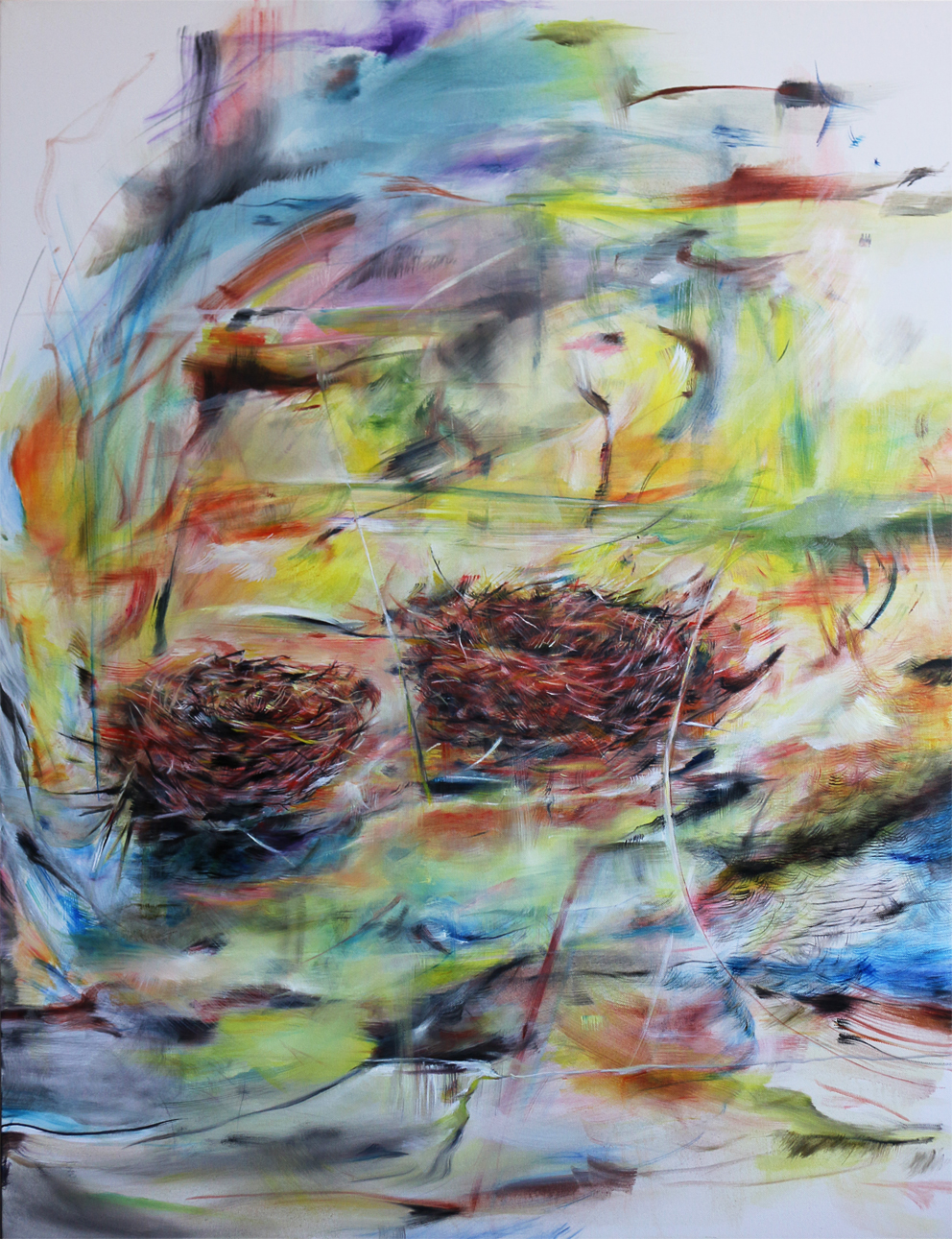 Hnízda , olej na plátně, 105 x 80 cm rok 2014, cena 18 000Kč