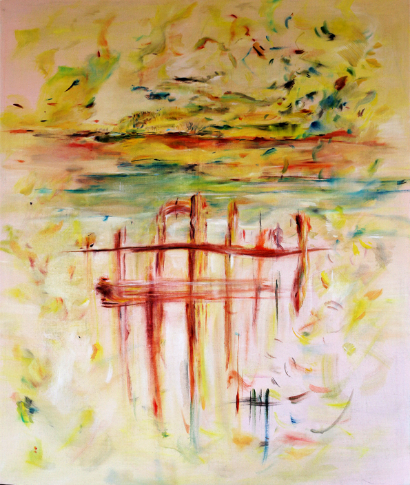ázava, olej na plátně, 140 x 130 cm, rok 2015, cena 20 000Kč