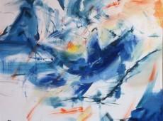 Veleryba, olej na plátně, 145 x 130 cm, rok 2015, cena 25 000Kč