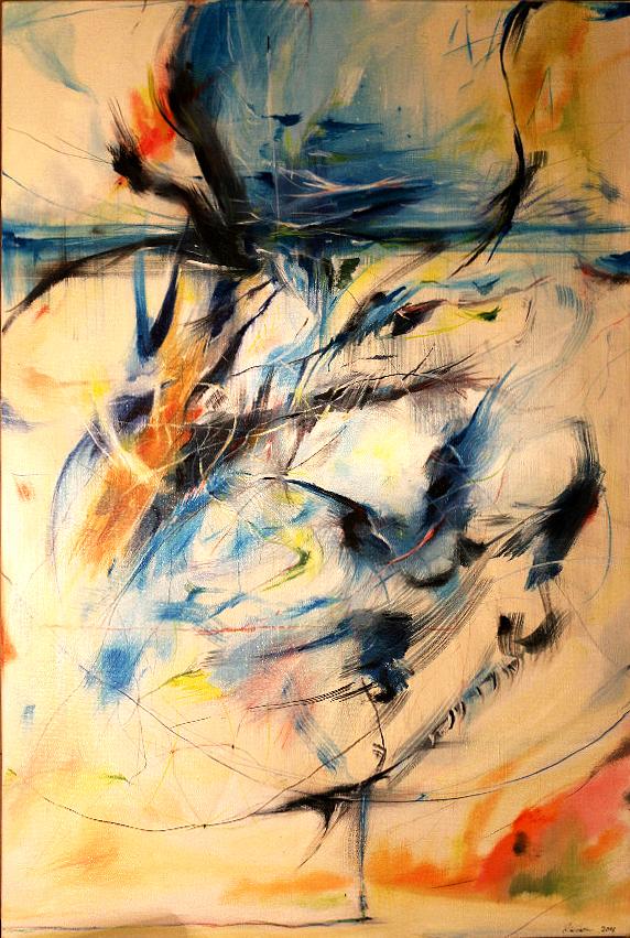 Modrý, olej na plátně 70 x 50 cm, rok 2016 prodáno