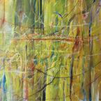 Vegetace, olej na plátně, 100 x 90 cm, rok 2018, cena 18 000Kč